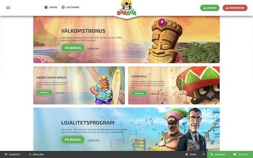 Jämför Svenska casino BoaBoa 36239