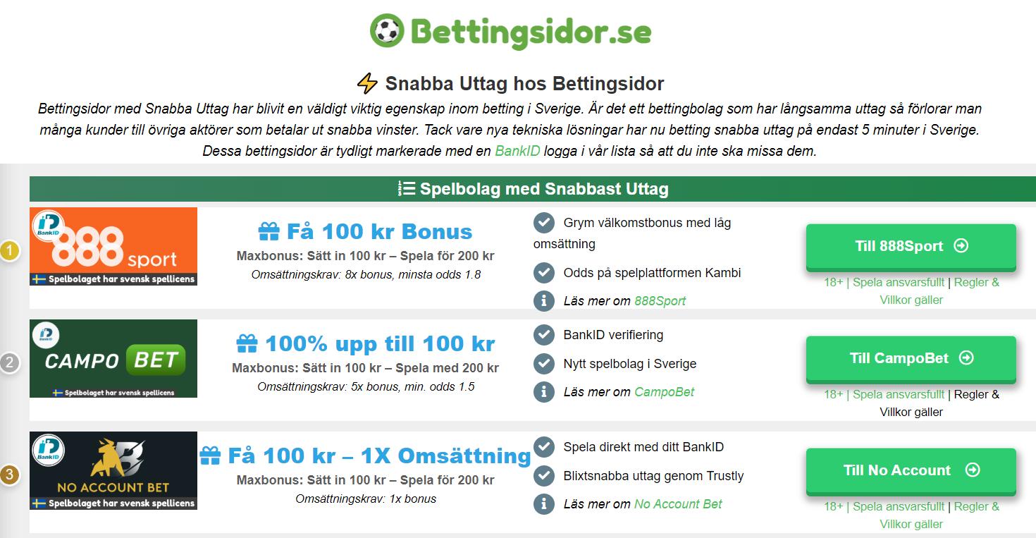 Betting sverige casino blixtsnabba 48956