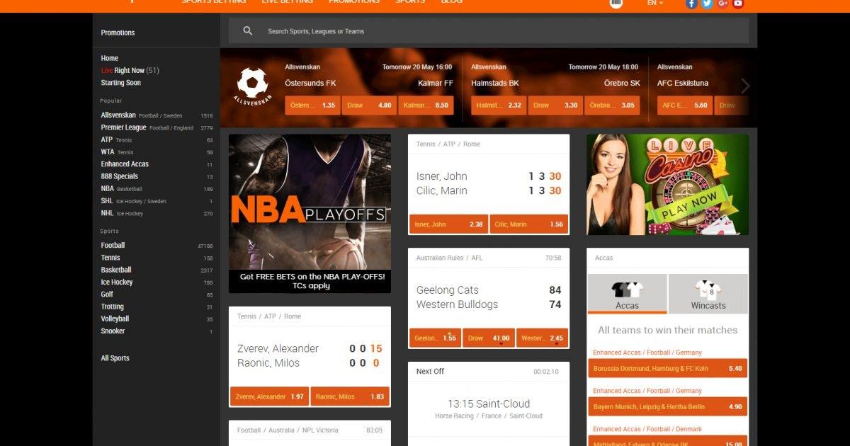 Prisbelönade casino 888sport 33920