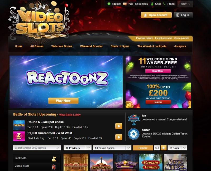 Videoslots battle of slots 66722